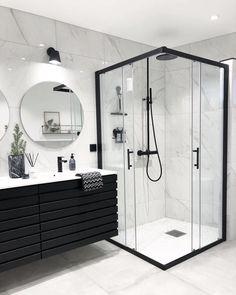Banheiro preto e branco: 50 dicas e inspirações