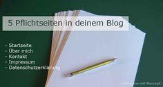 Blog + WordPress Tipps - Bloggen mit Konzept Kennst du deine wichtigsten Seiten im Blog?