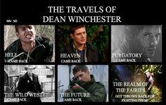 Dean Winchester travels - SPN