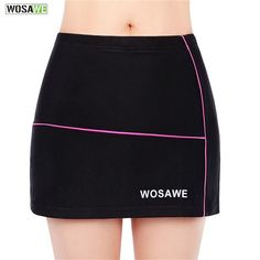 WOSAWE Women Outdoor Sports Skirt 3D and Seamless Elastic Cycling Bicycle Riding Silicone Skirts Women Cycling Shorts Skirts