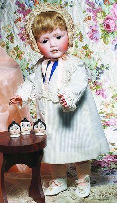 """Antique Doll. ADORABLE """"HILDA"""" GERMAN BISQUE TODDLER BY KESTNER"""