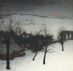 Winter landscape, Valerius de Saedeleer. Belgin (1867 - 1942)