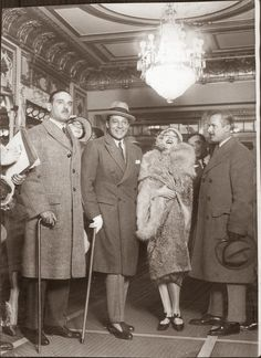 Rudolph Valentino with Douglas Fairbanks, Mae Murray and John Barrymore.