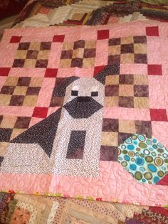 There's a dog on my quilt-from Billie Lauder and simply quilts