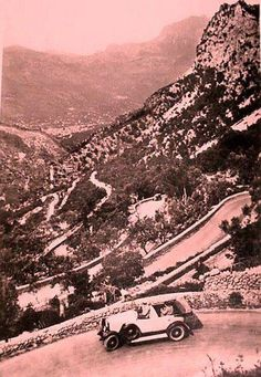 La carretera de Sóller old times - Island of Mallorca, Spain.