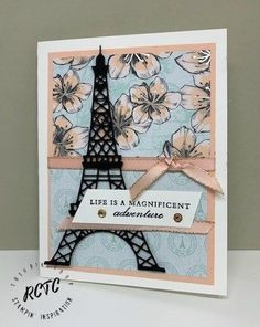 Parisian Beauty from Stampin' Up! Cute Birthday Cards, Handmade Birthday Cards, Paris Cards, Making Greeting Cards, Stamping Up Cards, Homemade Cards, Handmade Crafts, Making Ideas, Parisian