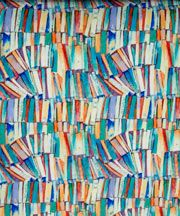 Liberty Art Fabric - digital print inspired by watercolor painting of a chaotic bookcase in a writing room at Glencot House in Somerset. (Fabric pattern comes in 3 additional colors.)