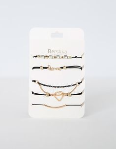 Bershka Ukraine - Heart and cross bracelet set