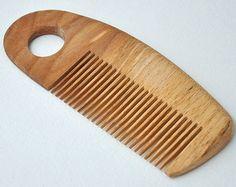 Natural Oak Wooden Comb Wood pocket comb Anti by GoodMoodInComb