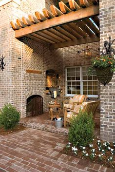 How awesome would it be to have a pergola?! You can get pre-made ones from www.outdoorrooms.com-- all the work is done! Perfect!