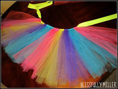 DIY tutu tutorial.. can you say Giants Race wear!