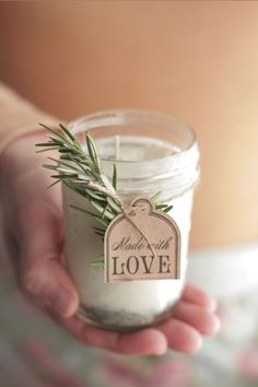 How to make homemade DIY candles. A gift that family and friends will love. And they're easier than you think to make! projekte geschenke DIY Homemade Candles (with natural lavender-rosemary scent) - Live Simply Diy Holiday Gifts, Christmas Diy, Christmas Presents, Diy Christmas Gifts For Coworkers, Homemade Gifts For Friends, Diy Gifts Homemade, Diy Candles Christmas, Homemade Christmas Gifts, Christmas Design