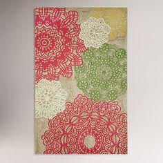 Pastel Crochet Indoor-Outdoor Rug | World Market