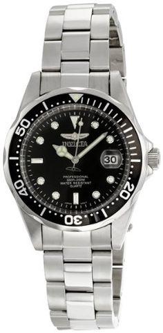 Men`s Stainless Steel Pro Diver Black Dial Quartz $54.99