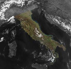 Italian Peninsula courtesy of NASA