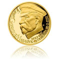 Zlatý dukát Českoslovenští prezidenti - T. G. Masaryk proof | Česká mincovna Personalized Items