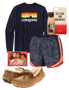 """""""baby come back , any kind fool could see, there was something in everything about you , baby come back, ....c'mon old Disney come back"""" by sofiaestrada ❤ liked on Polyvore featuring Patagonia, NIKE, Kate Spade, UGG Australia and Raven Denim"""