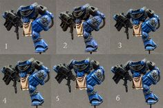 Sublime Brushwork: Step-By-Step Space Marine Captain part 3: armour