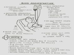blood administration I'm sure this will be helpfull very soon. Nursing Assessment, Pharmacology Nursing, Best Nursing Schools, Nursing School Notes, Nursing Tips, Ob Nursing, Nursing Programs, Nursing Information, Medical Surgical Nursing