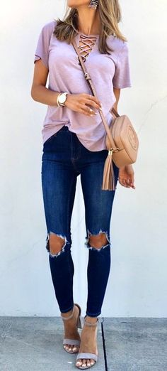 "#fall #outfits My Grommet Lace Up Top Is Around 30 Bucks And Comes In Other Colors Too!! My Jeans Got Restocked, Friends!To Shop, Tap The Link In My Bio And Select ""shop My Instagram"" Wearing Size Extra Small For ReferenceToday Is The First Day That I've Boarded A Plane Without My Kids Or Husband. I Feel Such A Mix Of Excitement And Loneliness All At Once!❤️✨The Drive From Missouri To Arkansas Took My Breath Away. The Sprawling Trees And Green Hills Are Absolutely Stunning. Creation Is"