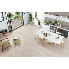 Casa Rosselló || Porcelanato Tipo Madera Woodspirit White