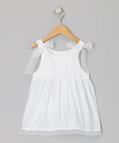 This Palencia White Anna Mae Dress - Infant, Toddler & Girls by Caught Ya Lookin' is perfect! #zulilyfinds