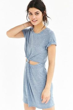T-Shirt Dresses You Can Wear Everyday: Honey Punch Knot-Front T-Shirt Dress ($49)