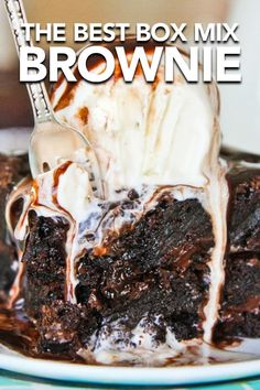 Wow, these tips take boxed brownies to a whole other level. Seriously loving this doctored brownie recipe. #brownies #chocolate #dessert #brownierecipe #recipes #brownierecipe #semihomemade