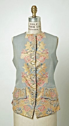 Waistcoat   Vivienne Westwood   United Kingdom, 1995   Material: silk   Westwood often subverts historical references in her designs, which has led her to continually produce innovative and original clothing since her first collections in the mid-1970's   The Metropolitan Museum of Art, New York