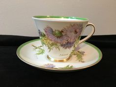 ROYAL DOULTON GLAMIS THISTLE CUP AND SAUCER ARTIST SIGNED #RoyalDoulton