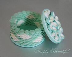 Blushing Blue - Paper Quill Box