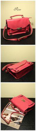 Retro candy color postman bag - US$ 28.66