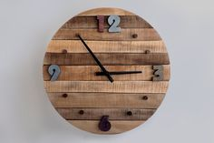Rustic Wall Clock Large Wall Clock Home decor by StoriaDellOrso