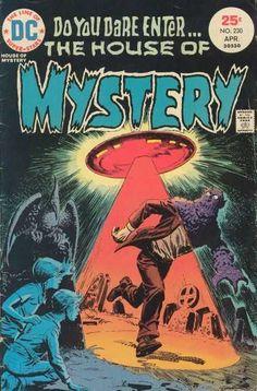 A cover gallery for the comic book House of Mystery Rare Comic Books, Comic Books For Sale, Vintage Comic Books, Vintage Comics, Comic Book Covers, Vintage Magazines, Creepy Comics, Horror Comics, Ec Comics