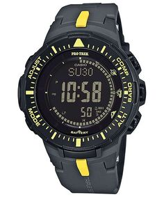 Casio Protrek Watches - Designed for Durability. Casio Protrek - Developed for Toughness Forget technicalities for a while. Let's eye a few of the finest things about the Casio Pro-Trek. Casio Watch Price, Casio Protrek, Mens Digital Watches, G Shock Men, Solar Watch, Casio G Shock, Fashion Branding, Accessories, Yellow
