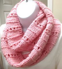 A very easy pattern that can be done by new knitters. It works up quickly for a last minute gift.