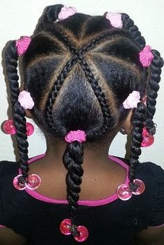 Neat And Simple Style For Kids - http://www.blackhairinformation.com/community/hairstyle-gallery/kids-hairstyles/neat-simple-style-kids/ #kidshair #twists #schoolhairstyle