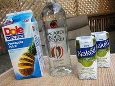 Skinny Pina Colada... just pinepple juice, white rum and coconut water!