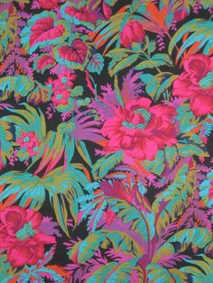 Tropical Hibiscus Print Pure Cotton Fabric by fabricsandtrimmings