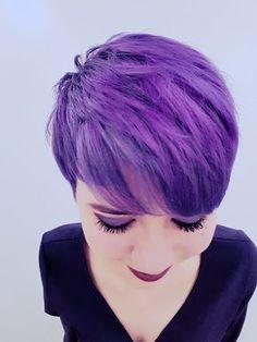 Purple pixie returns pixie hair color, purple pixie cut, which hair Purple Pixie Cut, Pixie Hair Color, Blonde Pixie Cuts, Hair Color Purple, Green Hair, Hair Colors, Deep Purple, Pixie Makeup, Hair Makeup
