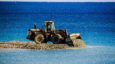 #ayia napa #bulldozer #construction #cyprus #embankment fill #equipment #gravel #heavy machine #marina #unload #vehicle