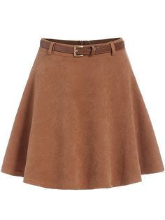 Falda cintura alta con vuelo-(Sheinside)