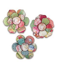 Another great find on #zulily! Collage Flower Wall Art Set #zulilyfinds