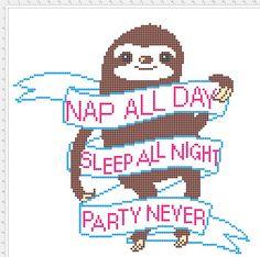 Sloth Cross Stitch Pattern! - Imgur