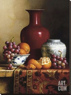 Oriental Still Life I Stretched Canvas Print by Loran Speck at Art.com
