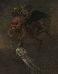 Orpheus and Eurydice in the Underworld (detail) ~ Pieter Fris 1652 Dark Fantasy Art, Dark Art, Arte Horror, Horror Art, Art Macabre, Renaissance Kunst, Arte Peculiar, Les Fables, Arte Obscura