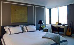 Bedroom of Laura and Diego Garcia via APT with LSD.  R & Y Augousti desk.