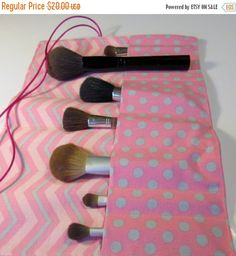 ReservedON SALE Essentials Makeup Brush Roll Holder by ClemmieVs