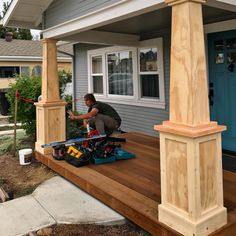 "1,075 Likes, 24 Comments - California Deck Pros (@californiadeckpros) on Instagram: ""We built these Craftsmen columns in north park this week on a historical home. #northpark .…"""