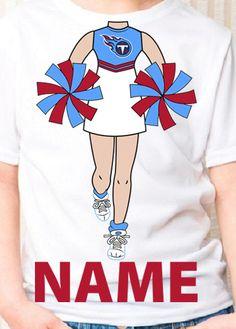 Tennessee Titans cheerleader. kids birthday shirt · NFL Shirts c65ecc832
